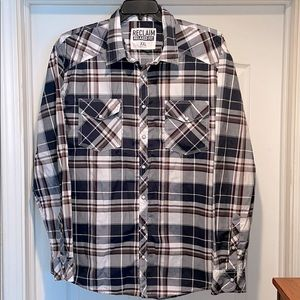Reclaim Relaxed Fit Plaid Shirt Buckle